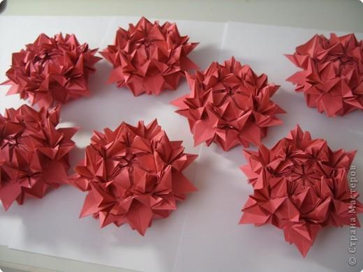 Мастер-класс Оригами: Пионы МК Бумага. Фото 46