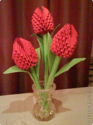 тюльпаны модульное оригами схема сборки