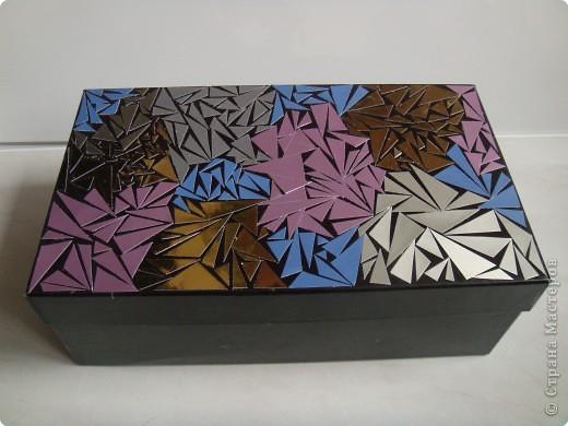 Украшаем коробку из под обуви своими руками мастер класс