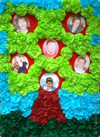 Мастер-класс Моделирование: Генеологическое Дерево Бумага, Бумага бархатная, Бумага гофрированная День семьи. Фото 1