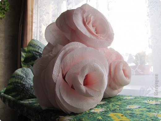 Бумагопластика: Розы (по МК nataska7)