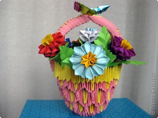 модульное оригами корзина