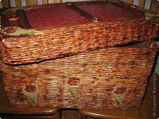 Мастер-класс Плетение: плетеная корзина +МК крышки Бумага газетная. Фото 1