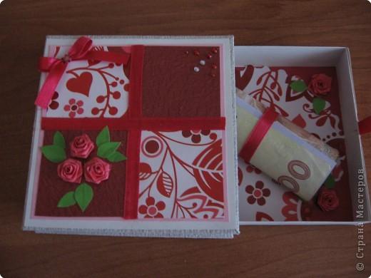 Поздравление Квиллинг: Моя коробочка для денег Бумага День рождения. Фото 3