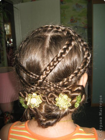 Плетение: Наша новенькая причёсочка.
