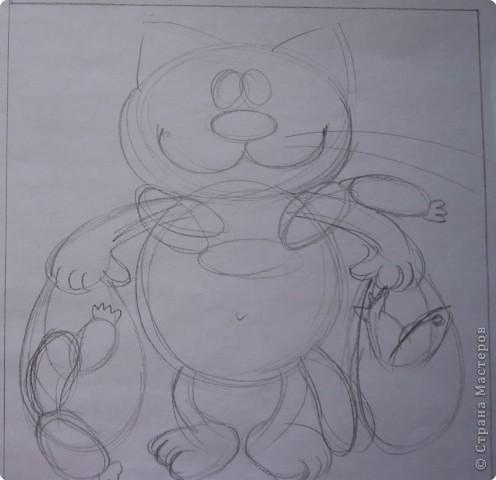 Мастер-класс Лепка: Кот с авоськами Тесто соленое. Фото 2