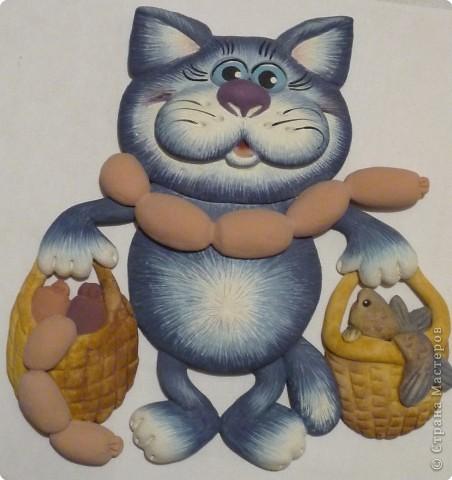 Мастер-класс Лепка: Кот с авоськами Тесто соленое. Фото 18