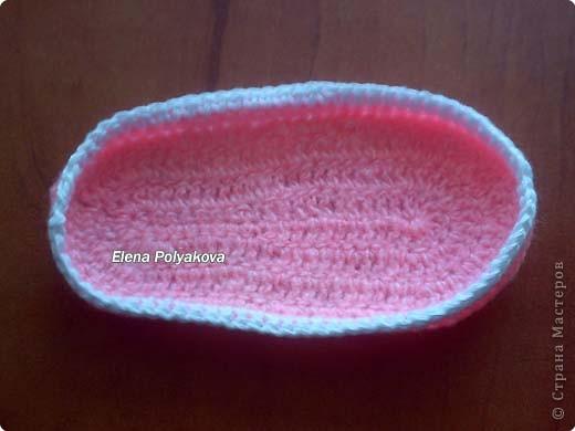 Гардероб, Мастер-класс Вязание крючком: Пинетки-туфельки с закрытым носочком. МК Пряжа День рождения. Фото 2