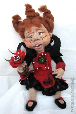 валяная кукла маковая фея сухое валяние шерсть сухое валяние.