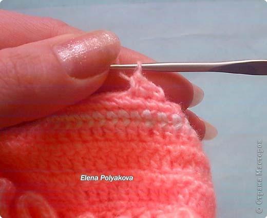 Гардероб, Мастер-класс Вязание крючком: Пинетки-туфельки с закрытым носочком. МК Пряжа День рождения. Фото 25