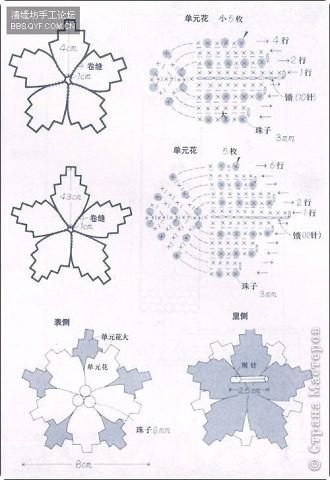и спицами. схемы вязания листочков
