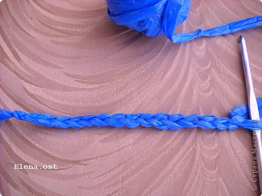 Декор предметов, Мастер-класс, Поделка, изделие Вязание крючком, : Шляпки, шлепки из полиэтиленовых пакетов (МК) Материал бросовый . Фото 25