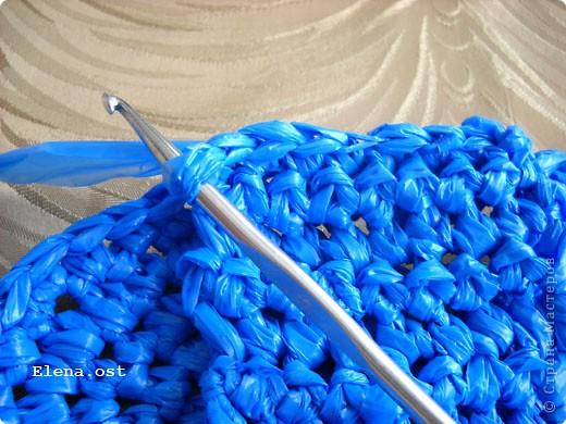 Декор предметов, Мастер-класс, Поделка, изделие Вязание крючком, : Шляпки, шлепки из полиэтиленовых пакетов (МК) Материал бросовый . Фото 34