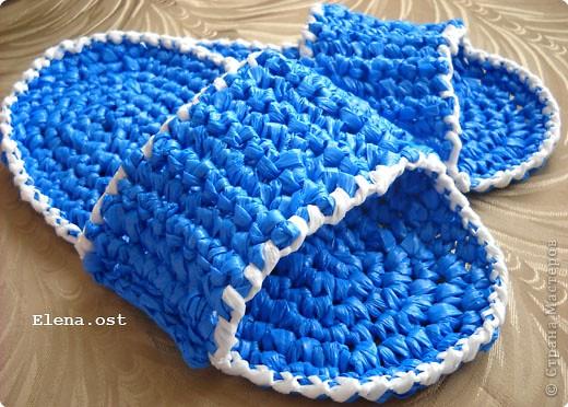 Декор предметов, Мастер-класс, Поделка, изделие Вязание крючком, : Шляпки, шлепки из полиэтиленовых пакетов (МК) Материал бросовый . Фото 24