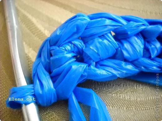 Декор предметов, Мастер-класс, Поделка, изделие Вязание крючком, : Шляпки, шлепки из полиэтиленовых пакетов (МК) Материал бросовый . Фото 27