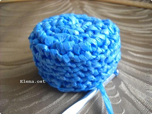 Декор предметов, Мастер-класс, Поделка, изделие Вязание крючком, : Шляпки, шлепки из полиэтиленовых пакетов (МК) Материал бросовый . Фото 8