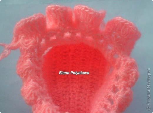 Гардероб, Мастер-класс Вязание крючком: Пинетки-туфельки с закрытым носочком. МК Пряжа День рождения. Фото 22