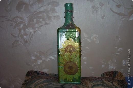 Декупаж: Декоративная бутылка. Фото 13