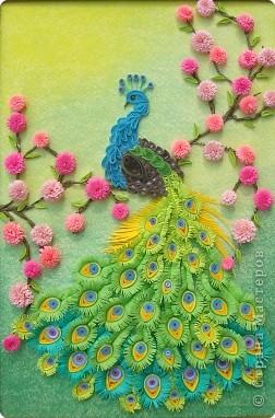 Квиллинг: Царская птица + mini МК.