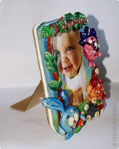 Рамочки Лепка, Роспись: Еще одна рамочка из теста... Акварель, Гуашь, Тесто соленое День рождения, Отдых. Фото 2