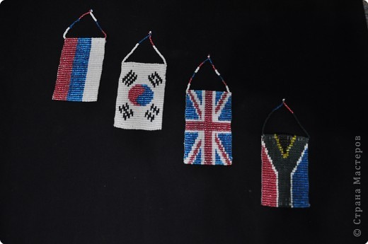 схема плетения флага из бисера