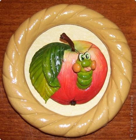 Лепим и расскрашиваем яблоки из теста Fotki_007