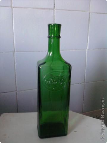 Декупаж: Декоративная бутылка. Фото 1