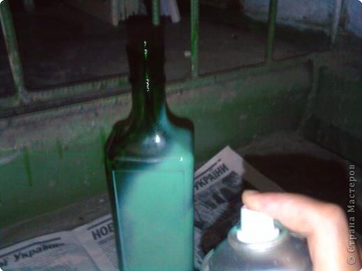 Декупаж: Декоративная бутылка. Фото 2