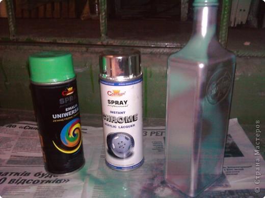 Декупаж: Декоративная бутылка. Фото 3