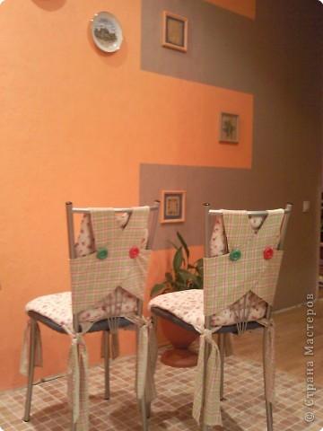 Декор предметов Шитьё: Чехольчики для кухонных стулчиков Ткань. Фото 2
