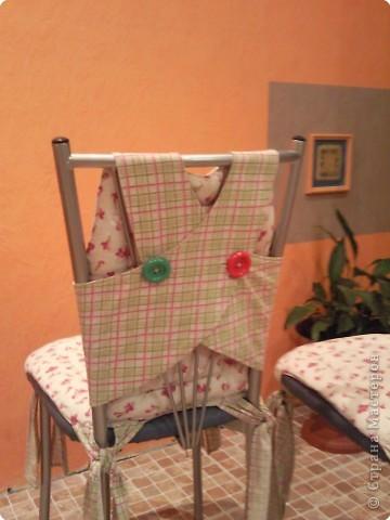 Декор предметов Шитьё: Чехольчики для кухонных стулчиков Ткань. Фото 3