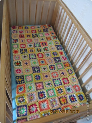 Вязание спицами для детской кроватки