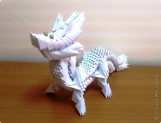Модульное оригами: дракон-змееныш.