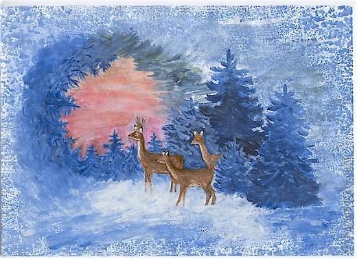 Поделка зимняя композиция своими руками