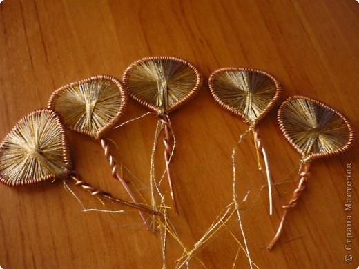 Мастер-класс Ганутель: МК Цветы ганутель Нитки. Фото 7