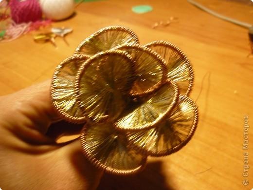 Мастер-класс Ганутель: МК Цветы ганутель Нитки. Фото 9