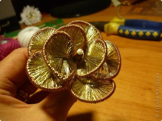 Мастер-класс Ганутель: МК Цветы ганутель Нитки. Фото 10