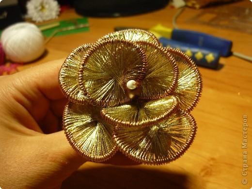 Мастер-класс Ганутель: МК Цветы ганутель Нитки. Фото 1