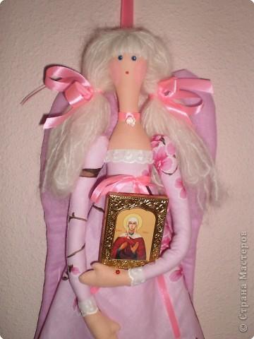 Куклы Шитьё: МК Ангел-хранитель Ткань. Фото 20
