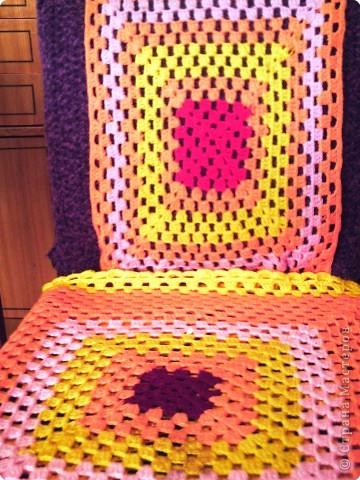 Вязание крючком накидки на кресла и стулья