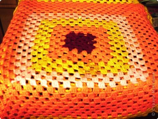 Вязание крючком: Накидка на стул Пряжа.  Фото 2.