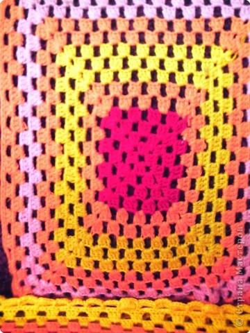 Вязание крючком: Накидка на стул Пряжа.  Фото 3.