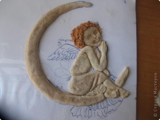 Поделка, изделие Лепка: Ангелочек Тесто соленое. Фото 4