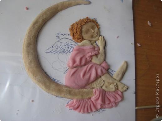 Поделка, изделие Лепка: Ангелочек Тесто соленое. Фото 5