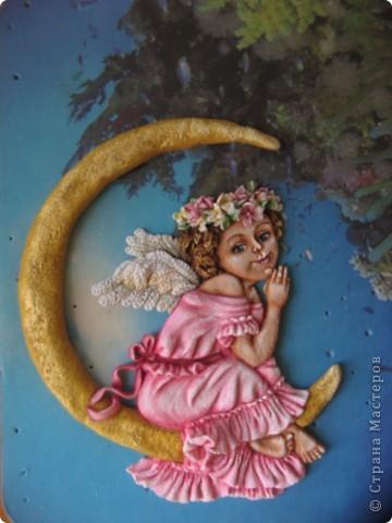 Поделка, изделие Лепка: Ангелочек Тесто соленое. Фото 1