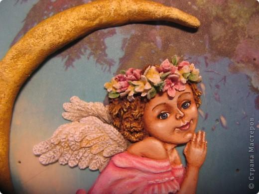Поделка, изделие Лепка: Ангелочек Тесто соленое. Фото 2