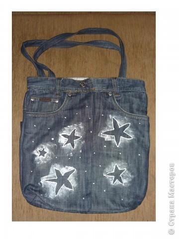 сшить сумку из старых джинсов с фото.