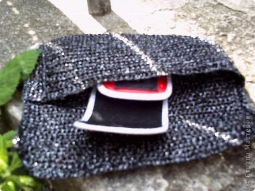 Поделка, изделие Вязание крючком: Сумочка клатч/косметичка из...