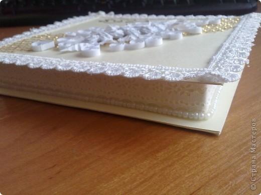 Открытка,  Квиллинг, : Коробочка для подарка Бумага Свадьба, . Фото 3