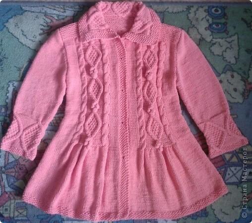 Вязание на спицах пальто